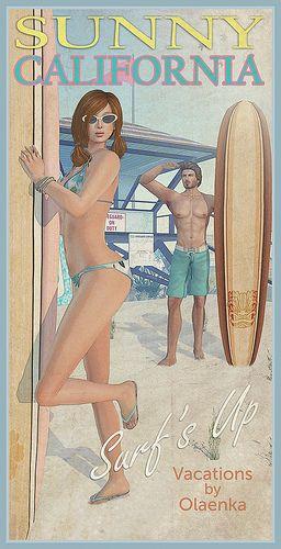 california.Vintage travel poster