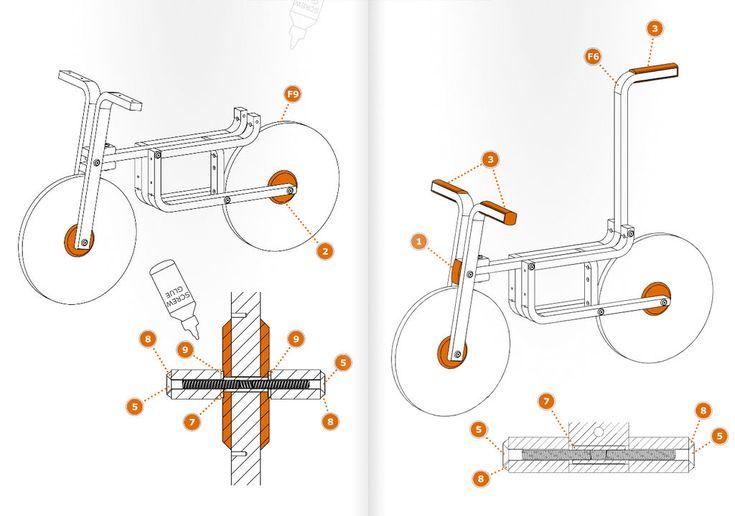 #Design #Kids -DIY Draisienne (hack of IKEA's frosta stool by Andreas Bhend and Samuel N. Bernier)