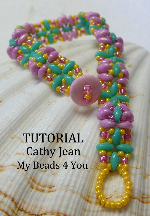 PDF Beading Tutorial Beaded Bracelet Pattern by mybeads4you
