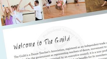 Dance association new website design. See more work at: http://bit.ly/MUGhsf