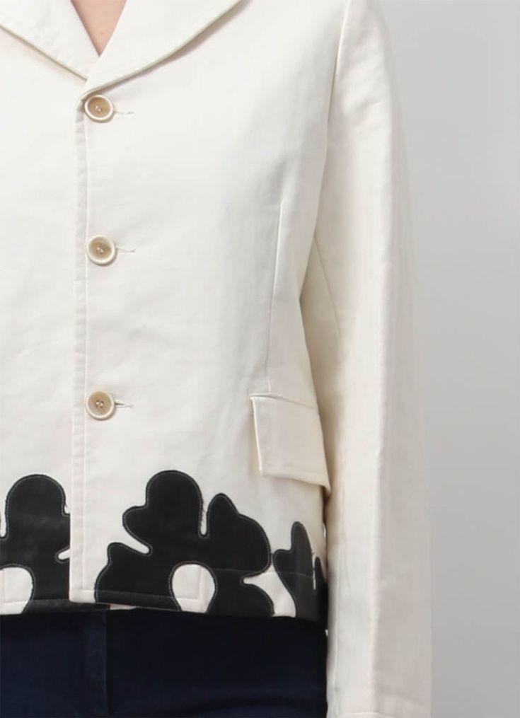 Comme Des Garçons Faux Leather Floral Jacket