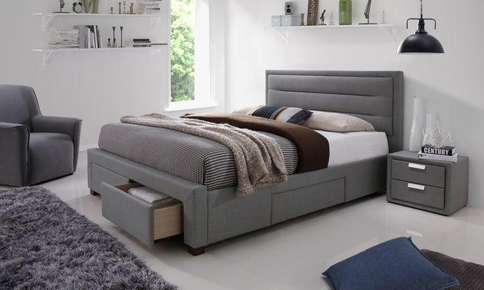 Colchester Four Drawer Bed Frame With Optional Mattress Grey Bed Frame Bedroom Furniture Online Bed Frame Mattress