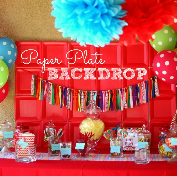 Circus party ideas amazing construction parties and how for Backdrop decoration for birthday