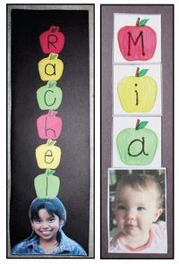 Name activities: FREE apples up on top name craftivity.  Do after reading Seuss's 10 Apples Up On Top.