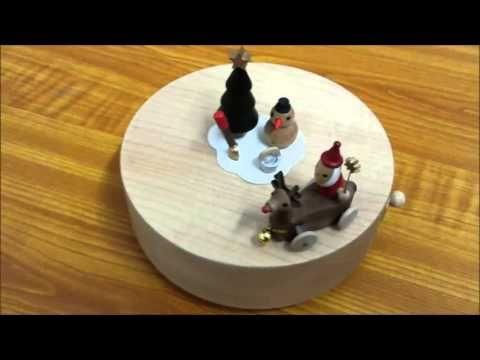 "#santa #reindeer #musicbox Santa and Reindeer Moving Wooden Musical Box | Plays ""Jingle Bell Rock""! | CoolThings Australia"