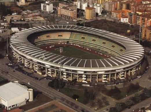 Football Stadium in Verona, Italy. Stadio Marc'Antonio Bentegodi is home of the clubs Hellas Verona and Chievo Verona