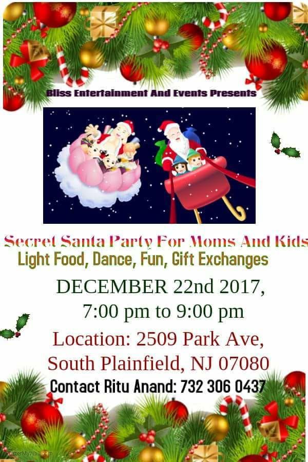 Secret Santa Party For Moms Kids N Events Xmas Upcoming Event Secret Santa Event Gift Exchange