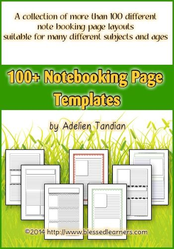 100+ Notebooking Page Templates - Blessed Learners - Our Journey of Learning