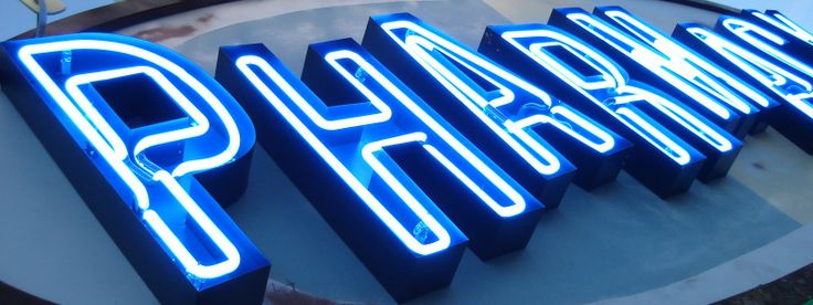 Part of Melrose Pharmacy's old neon sign | About Us | Pinterest ...