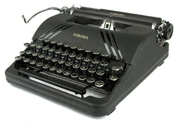 Smith Corona Sterling - Slate Gray with polished striping - 1940s