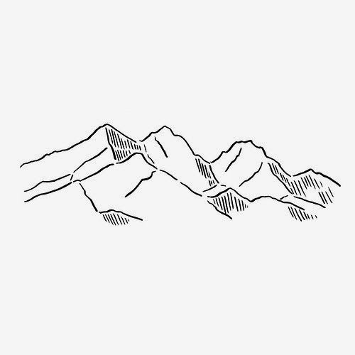 D Line Drawings Quotes : Mountain drawing outline imgkid the image kid