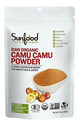 Sunfood Superfoods Camu Camu Powder 3.5 Ounce Bag