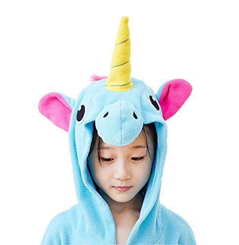 EcoOnesie Kids Anime Cosplay Bathrobe Fleece Unicorn Sleepwear Soft Loungewear