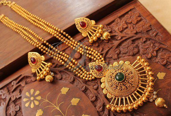 Splendid goldplated multilayer pink-green necklace set-Dj02039