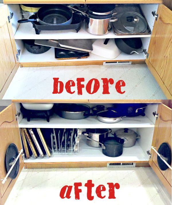 How To Organize Your Kitchen Cabinets: Organizing The Dreaded Pots And Pans Cabinet