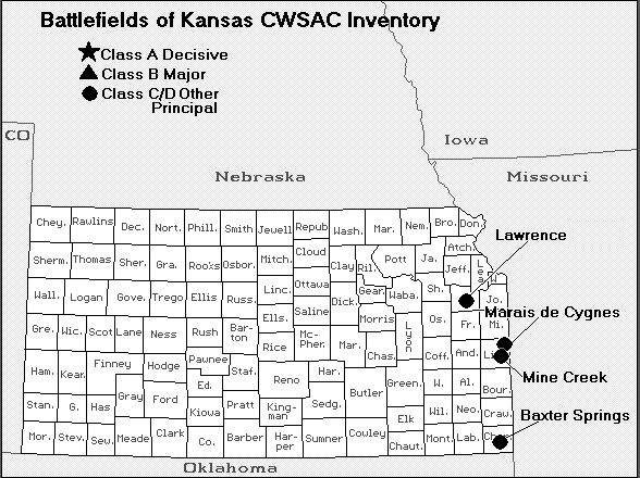 Kansas Civil War Battles 1861 1877 The Reconstruction Maps Charts Battle History American