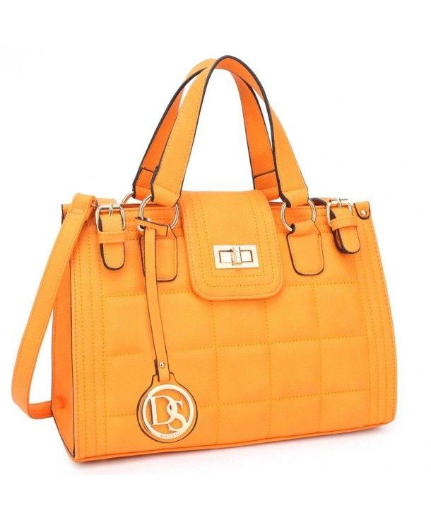 03291ff7cb Designer Handbags Structured Shoulder - Bright Orange New Single Bag ...