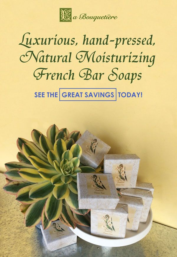 See the Great Savings Today! Luxurious Natural French Bar Soaps