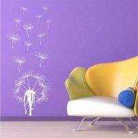Naklejka ścienna Dmuchawce 2 cena 54,60 PLN #naklejka_ścienna #naklejka_dekoracyjna #dekoracje_ścienne #wall_art #sticker #wall_decor # flower #home_decor