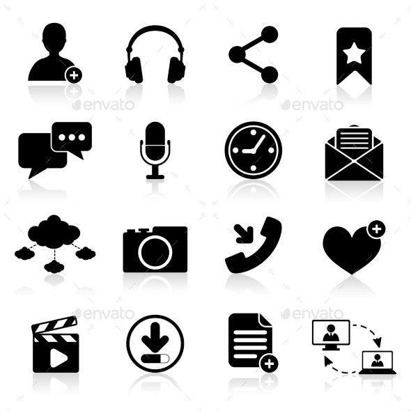 Social Network Icons — Vector EPS #connection #network • Available here → https://graphicriver.net/item/social-network-icons/9059470?ref=pxcr