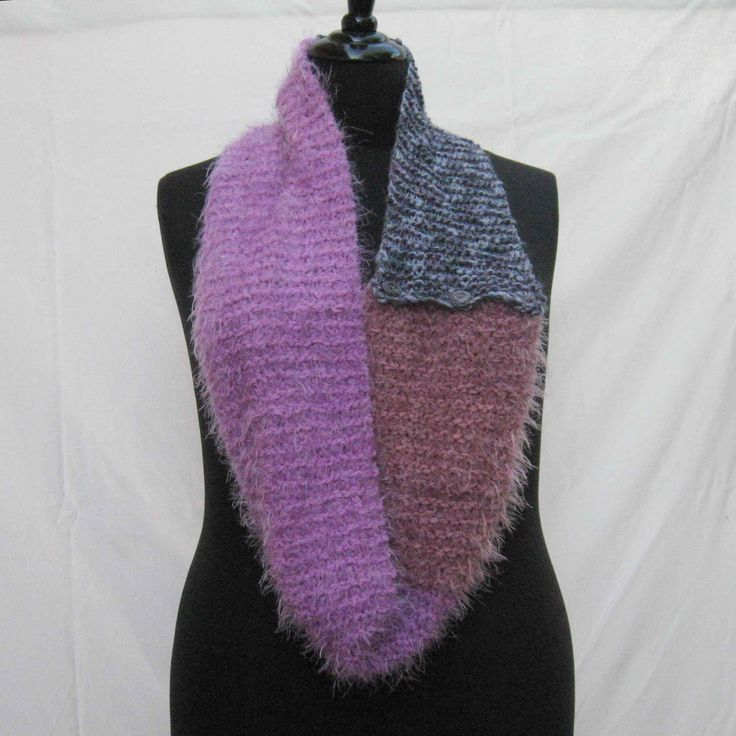 Purple scarf, infinity scarf, buttoned scarf, purples scarf, woman's knitted scarf, circle scarf, hand knitted scarf, purple cowl, mobius by Rethreading on Etsy