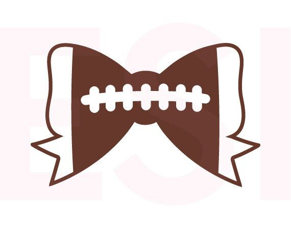 Football Bow SVG DXF EPS svg cutting files for use in Silhouette Studio and Cricut Design Space. Football svg files Sports svg files.