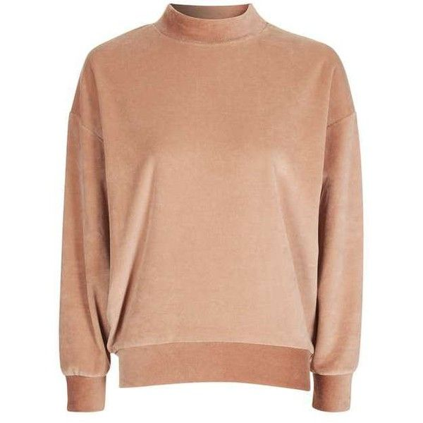 Topshop Petite Velvet Batwing Sweatshirt (115 BRL) ❤ liked on Polyvore featuring tops, hoodies, sweatshirts, red batwing top, topshop tops, velvet top, red top and red velvet top