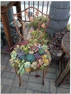 Wendy loves this fun 'succulent' chair in her allotment, a bit off the wall, like her! @Kristen Ruth Dolls #WinWendy