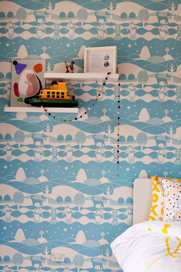 Just Kids Wallpaper Blog: Bright Kids Interiors Crate a beautiful kids room with Majvillan wallpaper