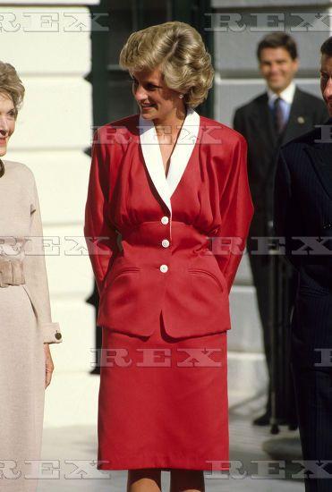 November 9 1985 Princess Diana meets Nancy Reagan at the White House