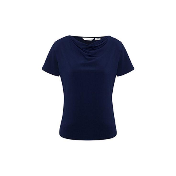 BIZ Collection Ladies' Ava Short Sleeve Drape Top – K625LS