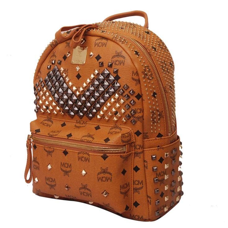 2013 NEW Sytle Designer MCM Studded Backpack_1221