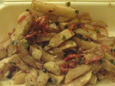 Salt and Pepper chips like the chinese do. But do them with slimming world chips and fry light