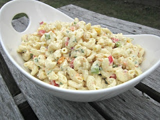 **  The Ultimate Macaroni Salad ~I found this to be a pretty tasty, creamy macaroni salad.  Sassy agreed.  No one else raved or crabbed about it, so I'll take that as they thought it was good, not great, but good.  I will probably make this again.  Just know it makes a huge batch, I will definitely halve it the next time I make it for just my family.