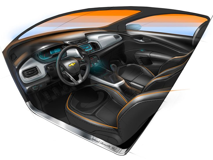 Chevrolet Onix Interior Design Sketch