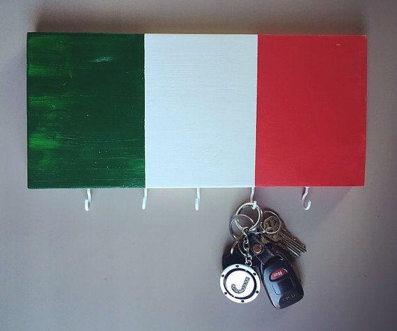 Italie drapeau peint à la main le support par DiamondEyesChicago