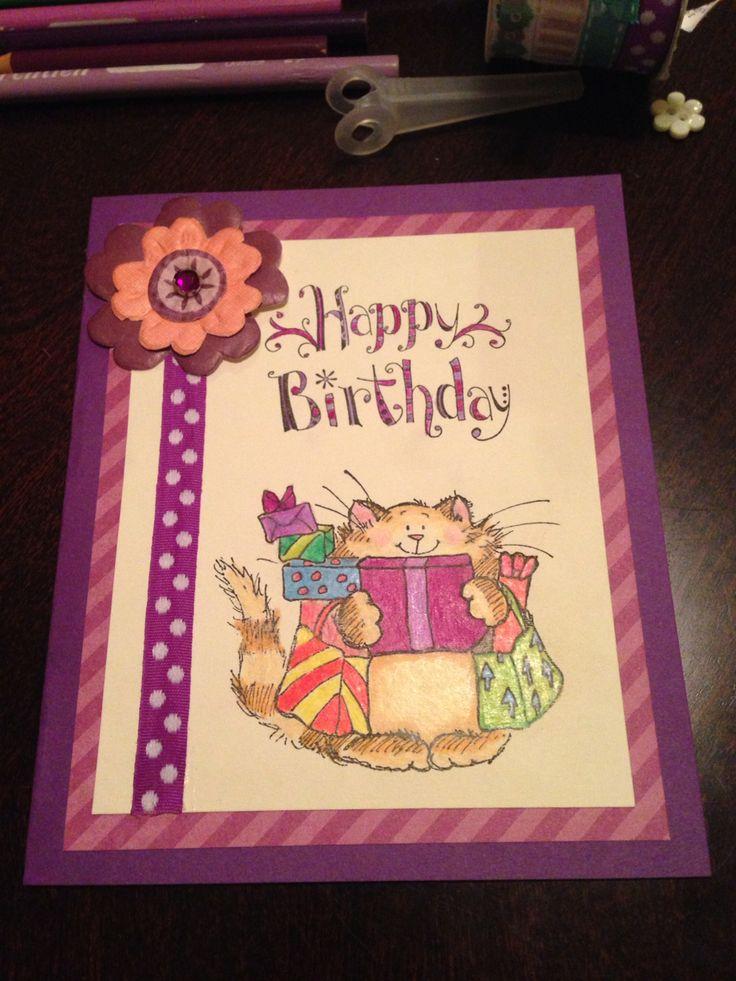 Kitty birthday card