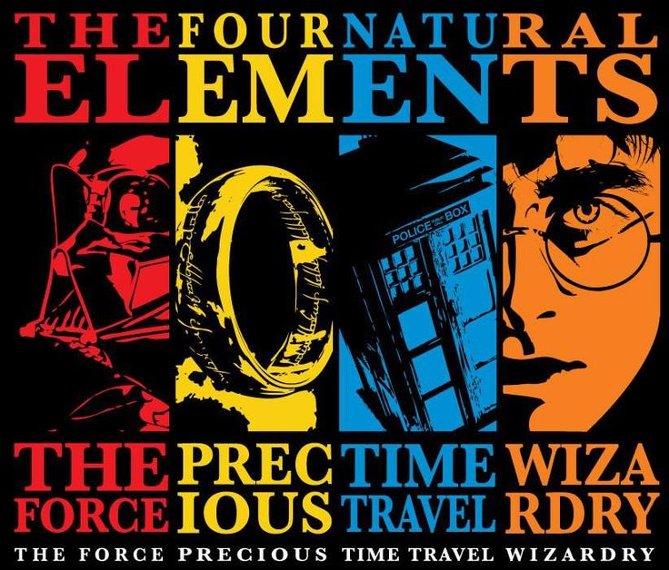 Four ElementsGeek, Time Travel, Nerdy Stuff, Harrypotter, Nature Elements, Doctors Who, Stars Wars, Harry Potter, Nerdy Things