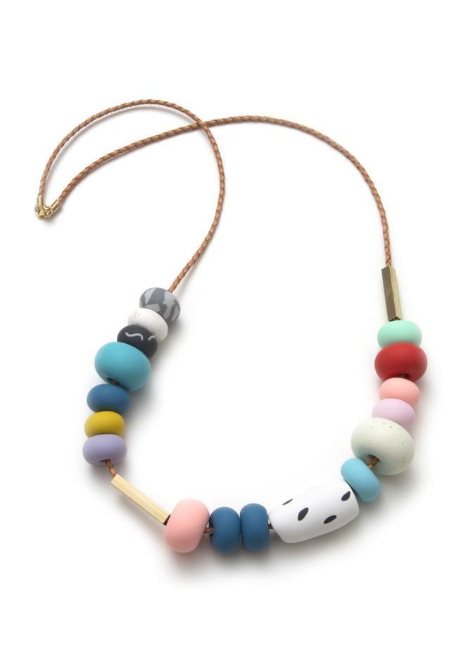 April Mixed Bead Necklace