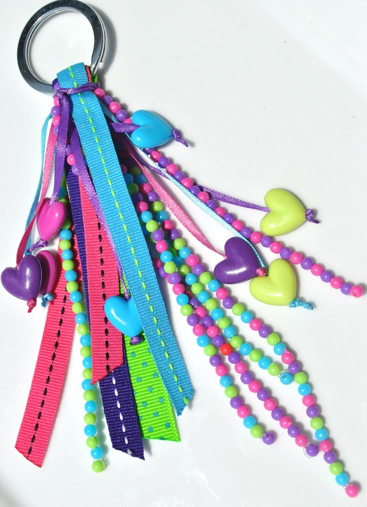Candy Ribbon Keychain. $7.50, via Etsy.