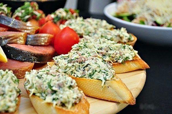 шеф-повар Одноклассники: Закусочные бутерброды с печенью трески