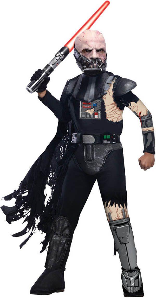 Star Wars Deluxe Battle Damaged Darth Vader Costume Child