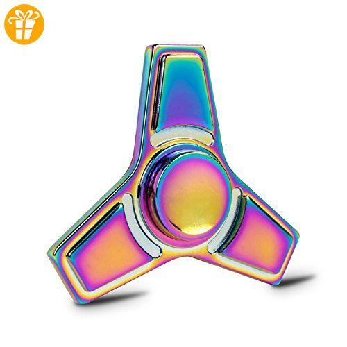 Walmark Hand Spinner zappeln Spielzeug-Legierung, Premium Lager-Durable stetigen ultra Geschwindigkeit dreht hilft Stress Relief ADD, ADHS, Angst & Langeweile für Erwachsene & Kids + Geschenk Tasche-Regenbogen - Fidget spinner (*Partner-Link)