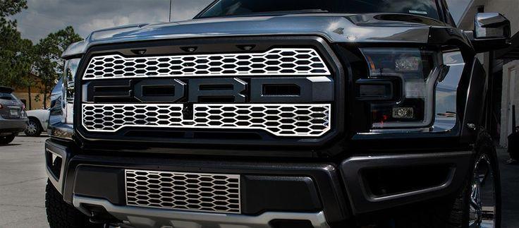 2017 Ford Raptor - Front Upper Grille Overlays