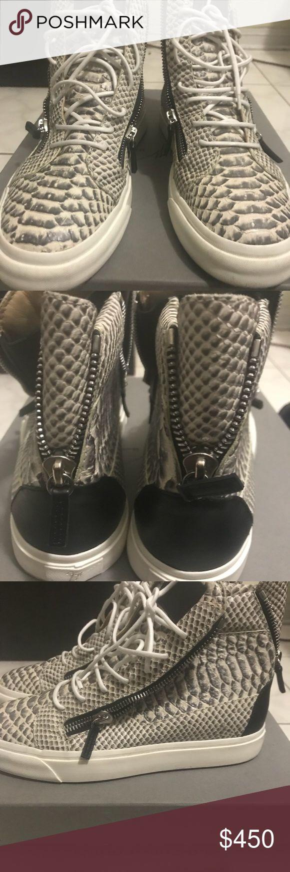Men's Giuseppe Python High Tops Size 41 eu / 9us Pre Owned Men's Giuseppe High Tops! Python! Excellent Condition Giuseppe Zanotti Shoes
