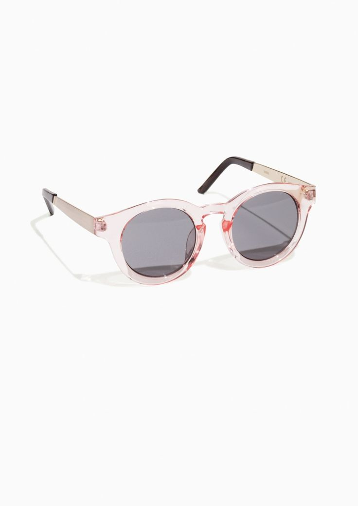 & Other Stories Round Sunglasses in Pink Light