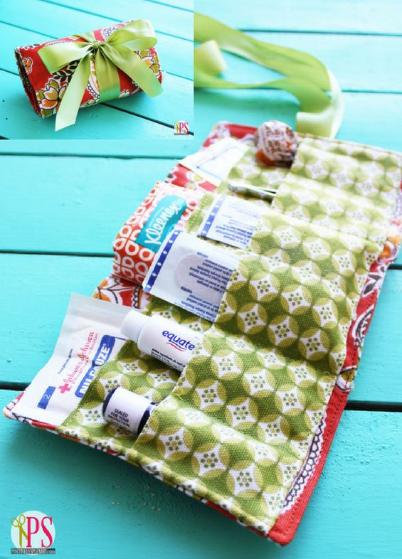Portable First-aid Kit FREE Sewing Tutorial - https://sewing4free.com/portable-first-aid-kit-free-sewing-tutorial/