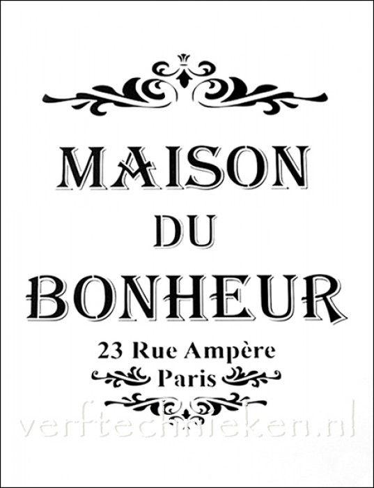 sjabloon Maison du Bonheur Rue Ampère
