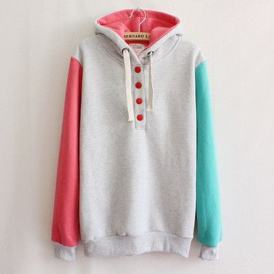 """Color:blue + yellow.pink + blue.light gray + red. Size: S,M,L,XL,XXL, Size S: Length:59cm/23.01"""".Bust:92cm/35.88"""".Sleeve length:58cm/22.62"""".Shoulder:38cm/14.82"""". Size M: Length:60cm/23.40"""".Bust:96cm/3"""