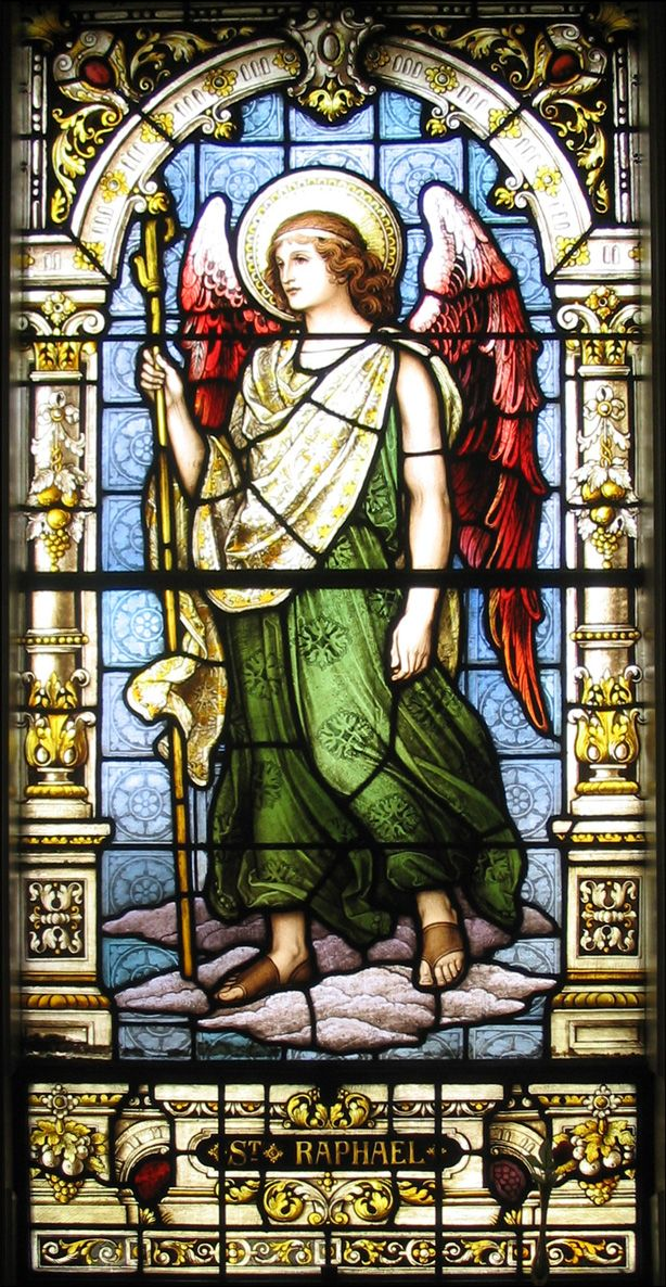 Archangel Raphael ~ Whenever you need relief from anything distressing to you, no matter what it is, ask Raphael to wrap his wings around you and he will do so. The sweetest peace will then descend upon you, leaving you wondering how you could have lived before without Raphael's tender and immediate help.